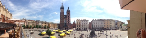 The central square in Kraków is stunning